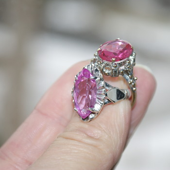 Two Rings with Pink Stones - Fine Jewelry