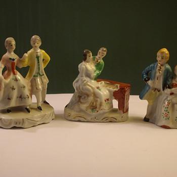 "Lady & Gentleman Figurines ""Occupied Japan"" - Pottery"