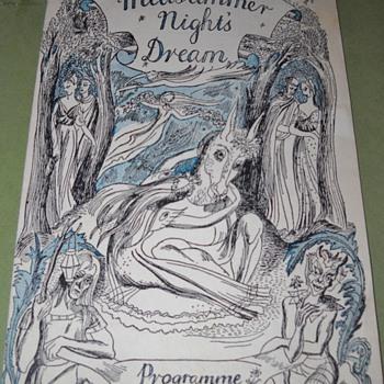 Mom's 1945 Theatre Royal Haymarket A Midsummer's Nights Deam Playbill - Paper