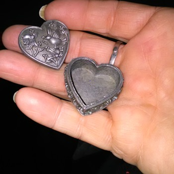 Torino pewter heart shaped box