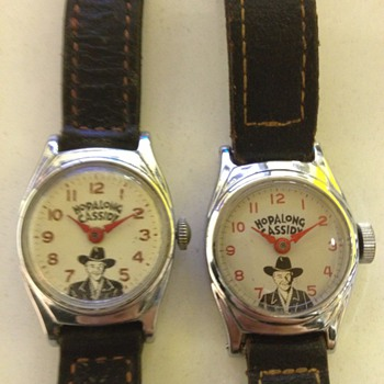Two versions of Hopalong Cassidy Wristwatches - Wristwatches
