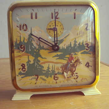 The Westener Ingraham windup clock 1950's - Clocks