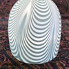Victorian satin glass fairy lamp dome - pulled loop pattern (Nailsea type)