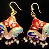Puffed earrings