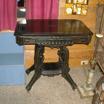 Black Parlor Table