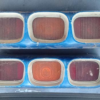 Old car tail light assembly.