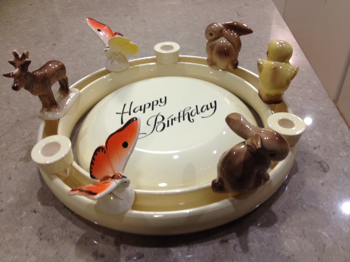 Happy Birthday Cake Plate Ring With Animals