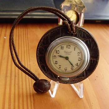 "Ingersoll ""Lapel"" leather watch - Pocket Watches"