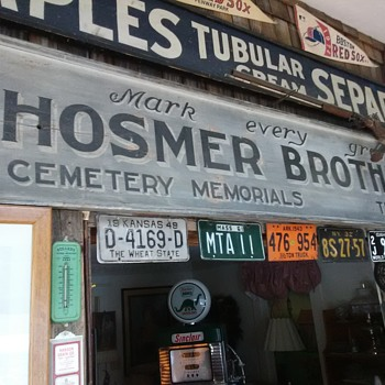 Hosmer Brothers Cemetery Memorials Sign - Signs