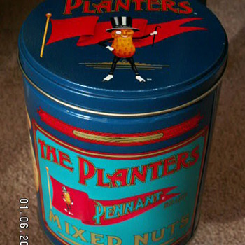 1989 The Planters Pennant Mixed Nuts Tin