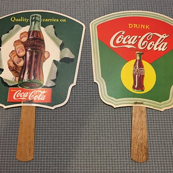 1950's Coca-Cola Paper Fans - Coca-Cola