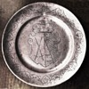 ARMORIAL PEWTER PLATE, SAXONY c.1750