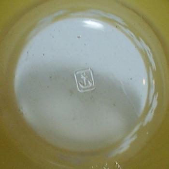 Retro Anchor Hocking Yellow Cased glass - Glassware