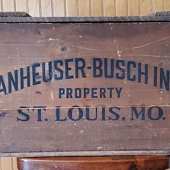 1876 - 1976 Anheuser - Busch Inc. Centenial Wooden Case - Breweriana