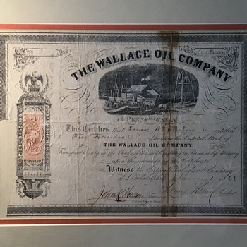 The Wallace Oil Company  - US Paper Money
