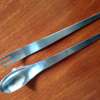 Arne Jacobsen salad servers designed for the SAS Hotel Copenhagen - Mid-Century Modern