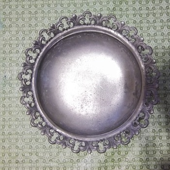 Mystery Pewter Footed bowl - Kitchen