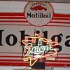 Gargoyle Mobiloil Mobilgas...Porcelain Sign...1929...Three Colors