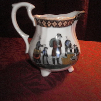 """SMALL CHINA OR PORCELAIN CREAMER 3-3 1/2 """""""
