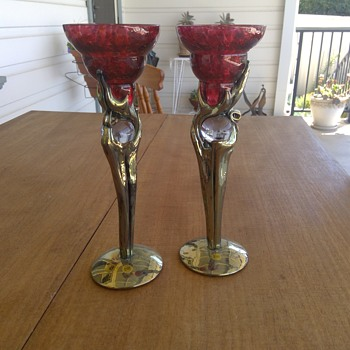 Pair of Heaney Candlesticks - Lamps