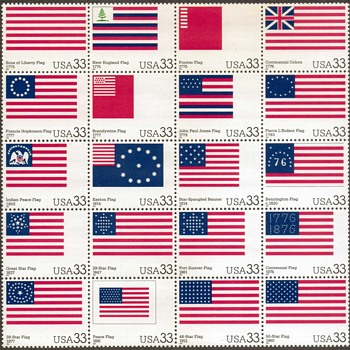 "2000 - ""U.S. Flag Day Issue"" Postage Stamps Pane - Stamps"