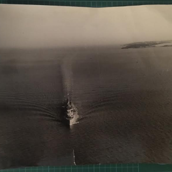 WWII British Naval Battleship Real Photograph  - Military and Wartime