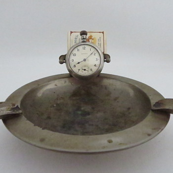 Ansonia Pocket Watch Ashtray - Tobacciana