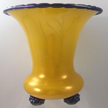 Loetz Citrongelb Ausführung 224 vase, PN III-1121, ca. 1920 - Art Glass