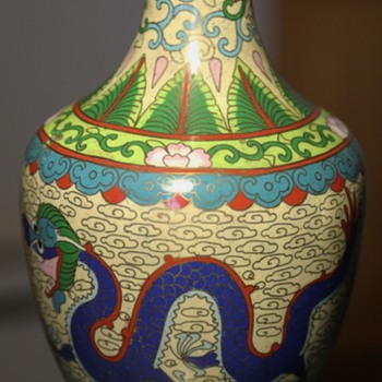 Cloissone Dragon Vase - Asian