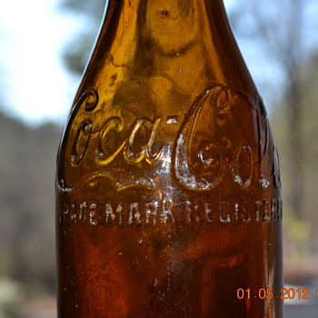 Amber Coke Bottle Chattanooga - Bottles