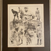Hand Drawn Limited Edition Babe Ruth Art Work Lithograph