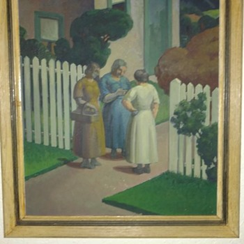 Circle of Grant Wood  oil painting - Fine Art