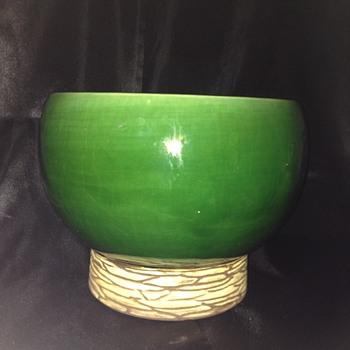 "McCoy ""Pedestal Lines"" Planter - Pottery"