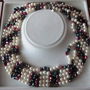 Five Row Sweet Water pearl necklace - Fine Jewelry