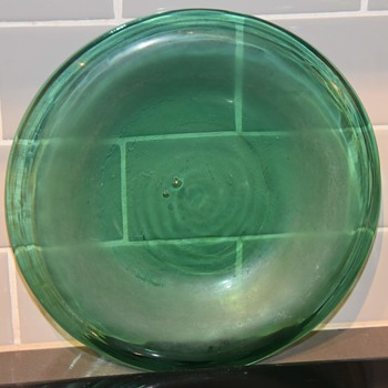 Really interesting and old Blown [Thrown?] Glass Plate - Art Glass