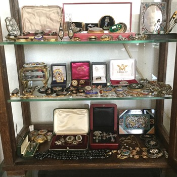 Large Collection Micro Mosaic and Pietra Dura Antique Jewelry - Fine Jewelry