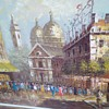 nice oil on canvas great subject matter need help to identify artist and plaza