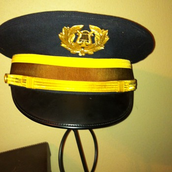 """""""Pershing's own"""" army band hat from 1957 uniform."""