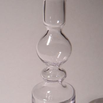 Scandinavian Glass Vase?~8 3/4 Inches High~Unmarked - Art Glass