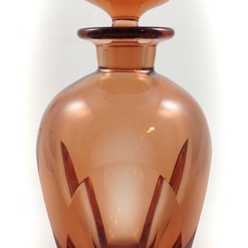 "Moser Rosalin Liquor Bottle, ""Bar"", ca. 1934, R. Eschler design, Prod Nr. 16 020 - Art Glass"