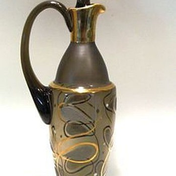 Unknown Glass Decanter - Smoke color - Art Glass