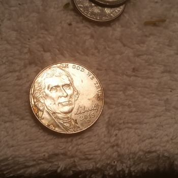 found this jefferson nickel in roll from bank