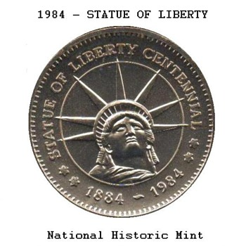 1984 - Statue of Liberty Medal - US Coins