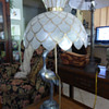 New Bird Table Lamp with Capiz Shade