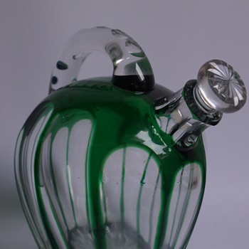 French Tea Pot Decanter - Art Glass
