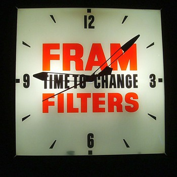 FRAM FILTER CLOCK - PERFECT - Clocks