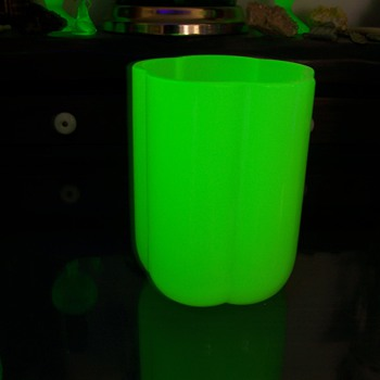 Uranium Glass Opaline vase - Art Glass