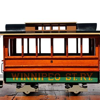 Winnipeg St Ry #8 - Streetcar Lamp