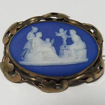 Antique Wedgwood Jasperware Brooch - Fine Jewelry