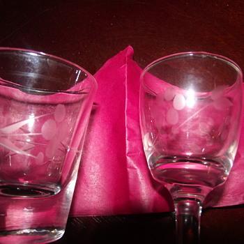 wine glasses and shot glasses - Glassware